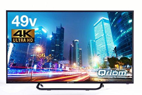 山善 キュリオム 49V型 液晶 テレビ QRS-49U4K 4K対応 地上・BS・110度CS 外付けHDD 録画 裏番組録画 QRS-49U4K