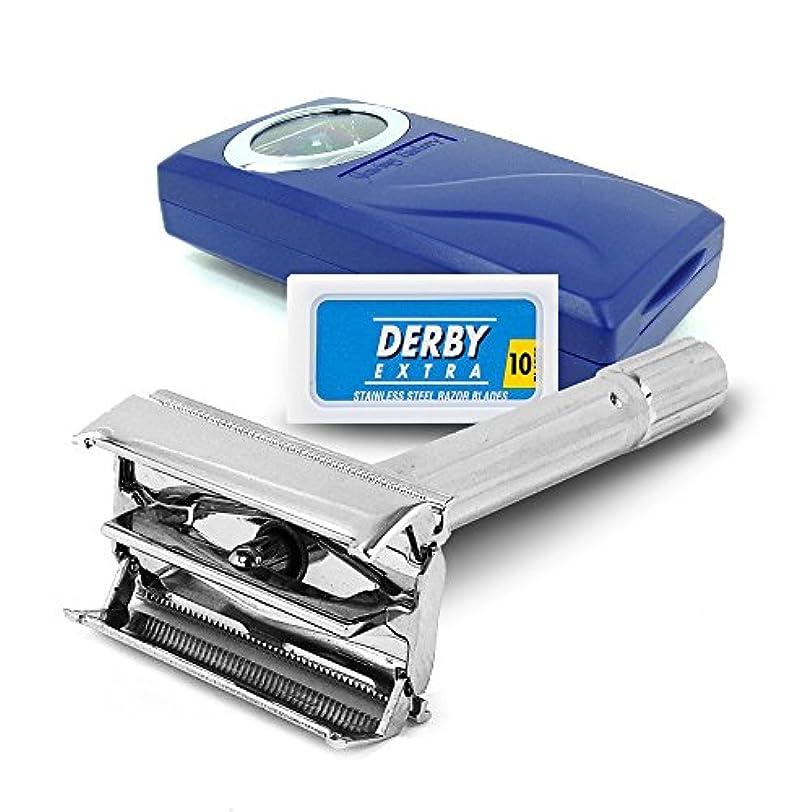 コンセンサス一般ライドSF120−シェービングファクトリー 安全剃刀両刃ホルダー、ダービーエキストラ剃刀両刃 男性へのご贈答に
