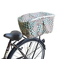 自転車用リアかごカバー マジックチェス (ブルー)