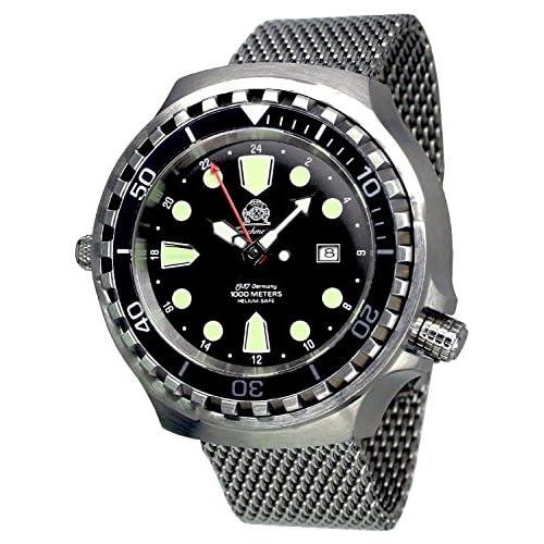 [トーチマイスター1937]Tauchmeister1937 腕時計 ドイツ製 1000M耐水圧 自動巻 24H表示 T0266MIL(並行輸入品)