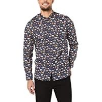 French Connection Men's Safari Animals L/S Custom FIT Shirt