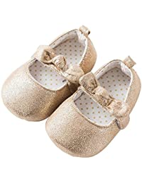 Baby nest ベビーシューズ 女の子 ドレスシューズ フォーマル キッズ 子供靴 ルームシューズ 金色 6-12M