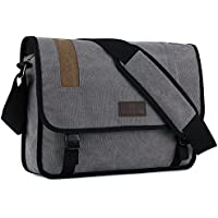 """Plambag Canvas Messenger Bag 15.3"""" Laptop Satchel Bag Schoolbag"""