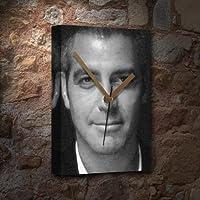 GEORGE CLOONEY / ジョージ・クルーニー - キャンバスクロック(大A3 - アーティストによって署名されました) #js002