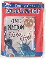 One Nation Under God自由の女神USA Limited Editionアクリルペニーチャームマグネット