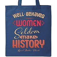 (Royal Blue) - Inktastic Well-Behaved Women Seldom Make History- Laurel Thatcher Tote Bag Royal Blue