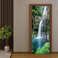 Mingld Pvc自己接着防水3Dステレオ滝壁紙リビングルーム寝室中国風フォトウォールドアステッカー家の装飾-280X200Cm