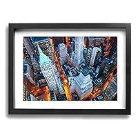 Peek-A-Booy ドバイ 大都会 高層ビル 海 夜 風景 太陽 Dubai 壁掛け絵画 装飾画 ポスター アートフレーム グレーアート 額縁付き インテリア 印刷 アートプリント パネル ウォールアート 現代 壁飾り おしゃれ 30*40cm (木枠付きの完成品)