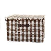 WTL かご?バスケット 布の衣類の収納用バスケット超大型の折り畳み式の収納用ボックス仕上げ用ボックス収納ボックス収納用バスケット (色 : D)