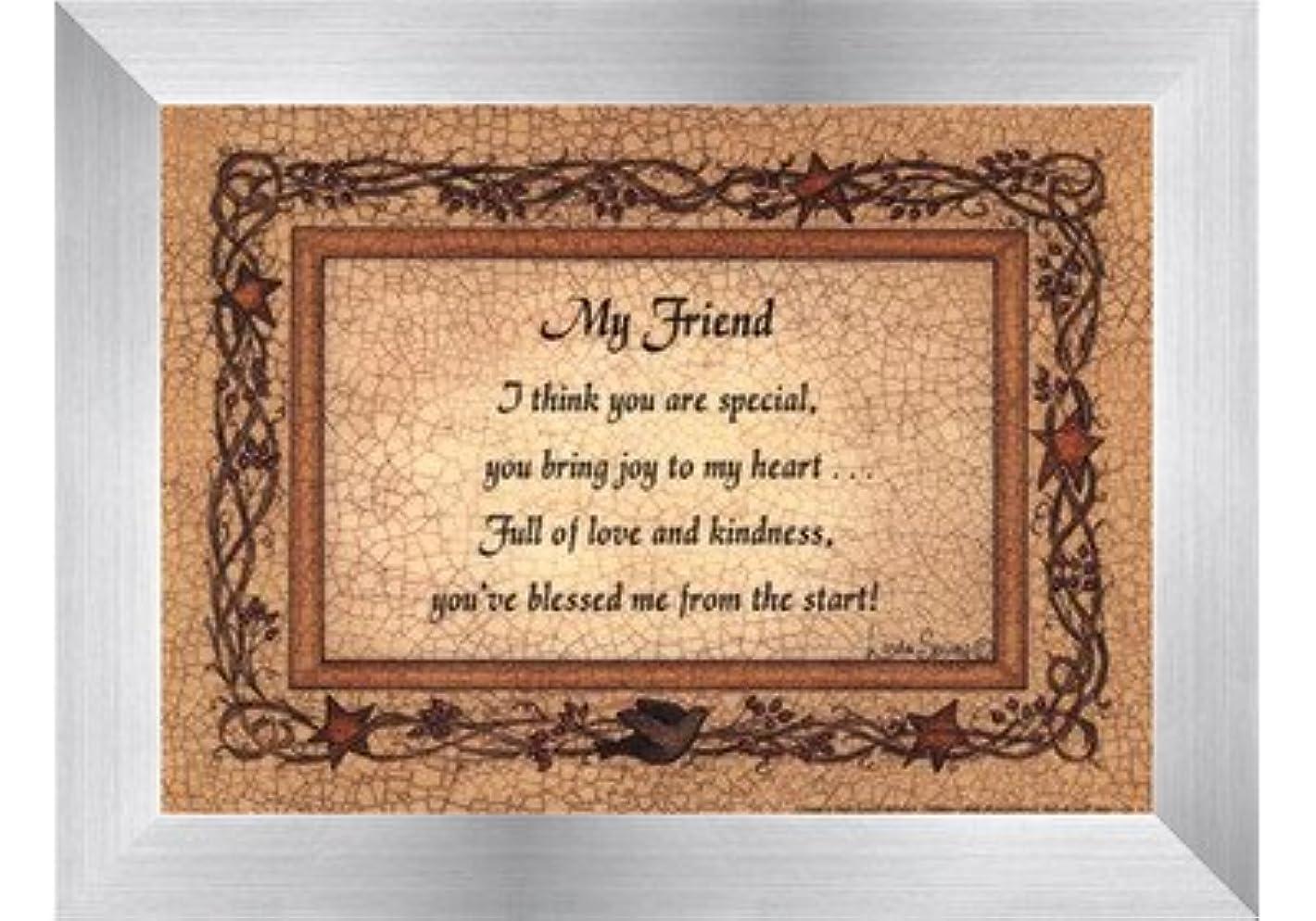 残忍な描写取り扱いMy Friend by Linda Spivey – 7 x 5インチ – アートプリントポスター LE_160935-F9935-7x5