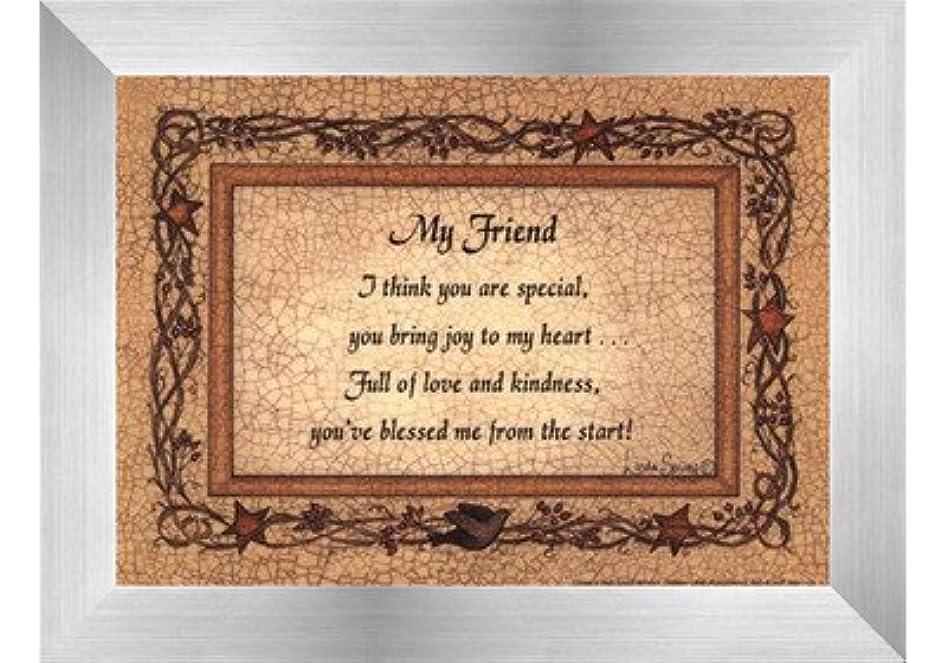 ライン同僚インキュバスMy Friend by Linda Spivey – 7 x 5インチ – アートプリントポスター LE_160935-F9935-7x5
