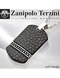 ドッグタグプレートネックレス ステンレス ネックレス -Zanipolo Terzini-