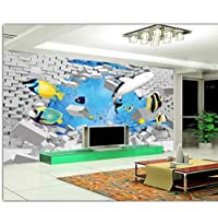 Wuyyii 3D部屋の壁紙カスタム写真不織壁画現代の海のサメ魚の装飾画3D壁の壁画壁紙For 3D