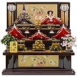雛人形 五人飾り 三段飾り 塗桐 幅82cm [fz-4] ひな人形