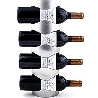 WR1 ワインラック ホルダー 3本収納 4本収納 ワイン シャンパン ボトル 収納 ケース スタンド インテリア ディスプレイ (4本収納)