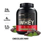OPTIMUM NUTRITION GOLD STANDARD 100% Whey Protein Powder, Chocolate Mint, 5Pound