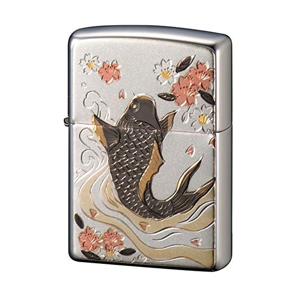 ZIPPO ライター 電鋳板 鯉 シルバーの商品画像