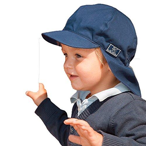 (ピッカプー) Pickapooh オーガニックコットン UVカット 帽子 Felix UPF80 ネイビーブルー サイズ 52cm