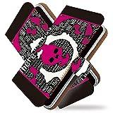 KEIO ケイオー isai LGL22 カバー 手帳型ケース ガイコツ LGL 22 手帳 ドクロ isai LGL22 ケース 手帳型 スカル ピンク イサイ ittnスカルピンクt0188