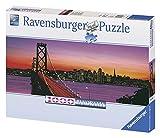 San Francisco, Oakland Bay Bridge bei Nacht. Puzzle 1000 Teile: Panorama