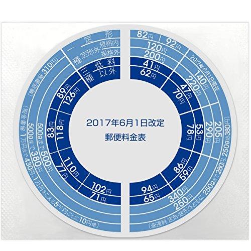 プラス レタースケール 2017年6月1日 料金改定シール 新郵便料金対応 NO.320用 88-992