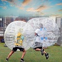 eshion 1.5 Mインフレータブルバブルボール、Tpu透明人間Knocker Zorbバンパーボールバブル安全ロープとサッカー子供ティーン大人用
