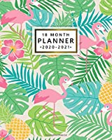 18 Month Planner 2020-2021: Cute Baby Flamingo & Pineapple Weekly Planner with Monthly Spread Views - Organizer & Agenda with To-Do's, Notes, Inspirational Quotes & Vision Boards (January 2020 - July 2021)