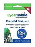 アメリカ ハワイSIM lycamobile 初月料金コミコミパック LTE通信4GB/通話/テキスト/データ/国際通話も全部コミコミ
