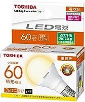 東芝 LED電球 LDA7L-G-E17/S60WST 1ケース(10個) 口金E17 電球色 広配光 小型電球60W相当 非調光