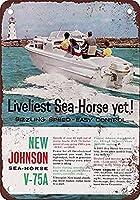 Johnson Sea-Hor Boat Motor 金属板ブリキ看板警告サイン注意サイン表示パネル情報サイン金属安全サイン
