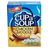 (Batchelors) カップスープチキンヌードル4つの小袋4×23グラム (x2) - Batchelors Cup a Soup Chicken Noodle 4 Sachets 4 x 23g (Pack of 2) [並行輸入品]