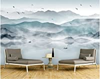 Weaeo カスタム写真の壁紙抽象的なインクの風景の絵画壁の3Dのためのモダンなリビングルームのベッドルームの背景の壁紙-120X100Cm