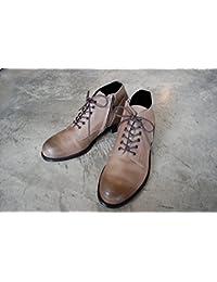 PADRONE(パドローネ) メンズ CHUKKA BOOTS with SIDE ZIP チャッカブーツ サイドジップ / BAGGIO バッジオ ASH GRAY アッシュグレー PU7358-1205-13D