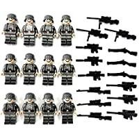 【ぴぴっと】 ミニフィギア 兵隊 武器 ミリタリーシリーズ レゴ対応 互換 ミニフィグ 銃 兵士 12体セット (ドイツ兵)