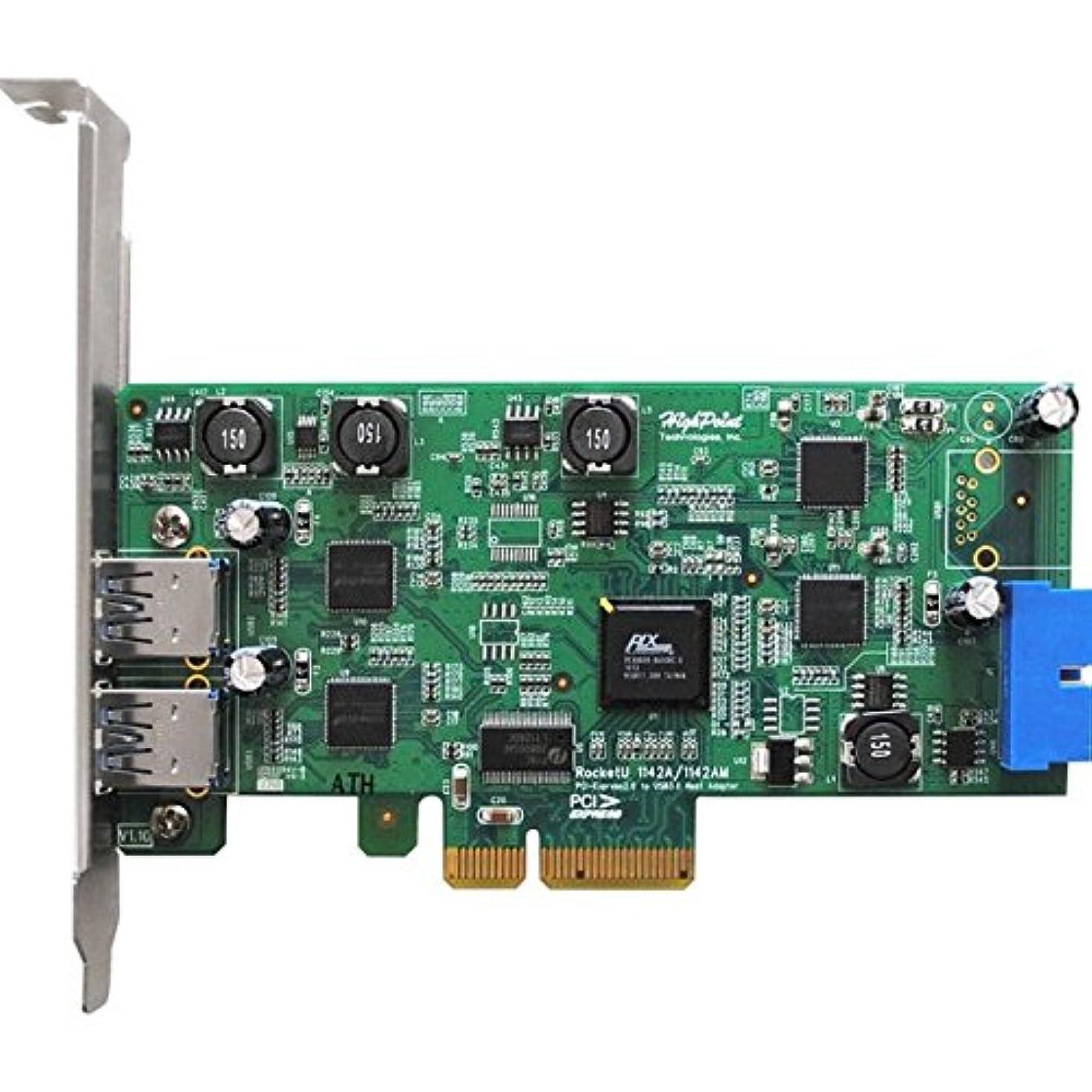 ロッド構成契約したHighPoint RocketU 1142 A USB 3.0 HBA – PCI Express 2.0 x4 – プラグインカード – 3 USBポート( S ) – 3 USB 3.0ポート( S )