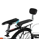 自転車シートYIFAN 取り付け説明図解 背もたれ 自転車クッション 自転車 サドル 自転車レザーカバークッション バックシート (子供/ガールフレンド/老人)用 バックレスト (ラインパターン)