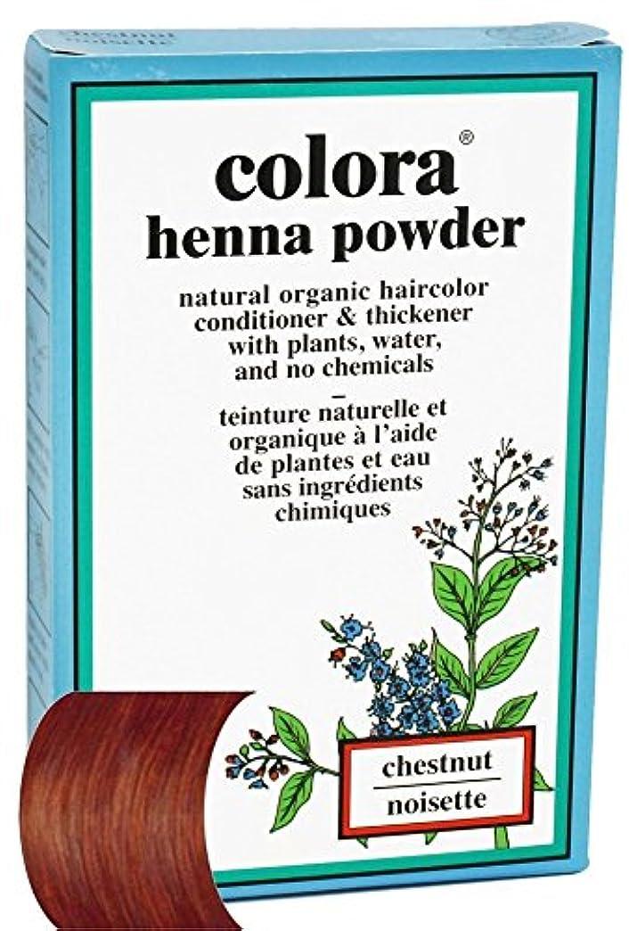 誰の昨日吸収剤Colora - ヘナパウダーナチュラルオーガニックヘアカラーチェスナット - 2オズ。
