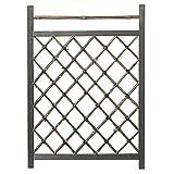 タカショー 木枠枝折戸 黒竹2.3尺