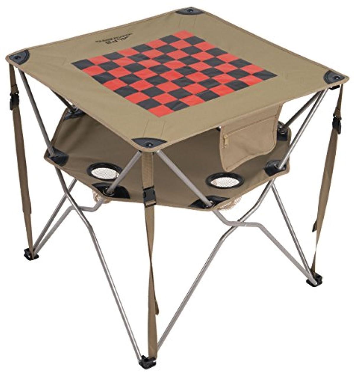 アグネスグレイ気質想定ALPS Mountaineering Eclipse Table with checkerboard top 折り畳みテーブル チェス盤?コマ付き ドリンクホルダー アルプスマウンテニアリング 日本正規品 tbwc