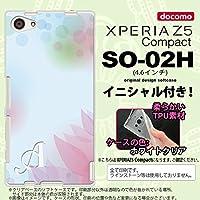 SO02H スマホケース Xperia Z5 Compact カバー エクスペリア Z5 コンパクト ソフトケース イニシャル ぼかし模様 青 nk-so02h-tp1594ini R