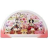 雛人形 親王変形アクリルケース 【円華】 豆 2人飾り 白桃 [間口50cm] 【fn-5】 ひな祭り