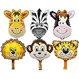 Perfeclan バルーン 動物の顔 アルミ箔 子供 おもちゃ 可愛い バースデーパーティー デコレーション 6個セット