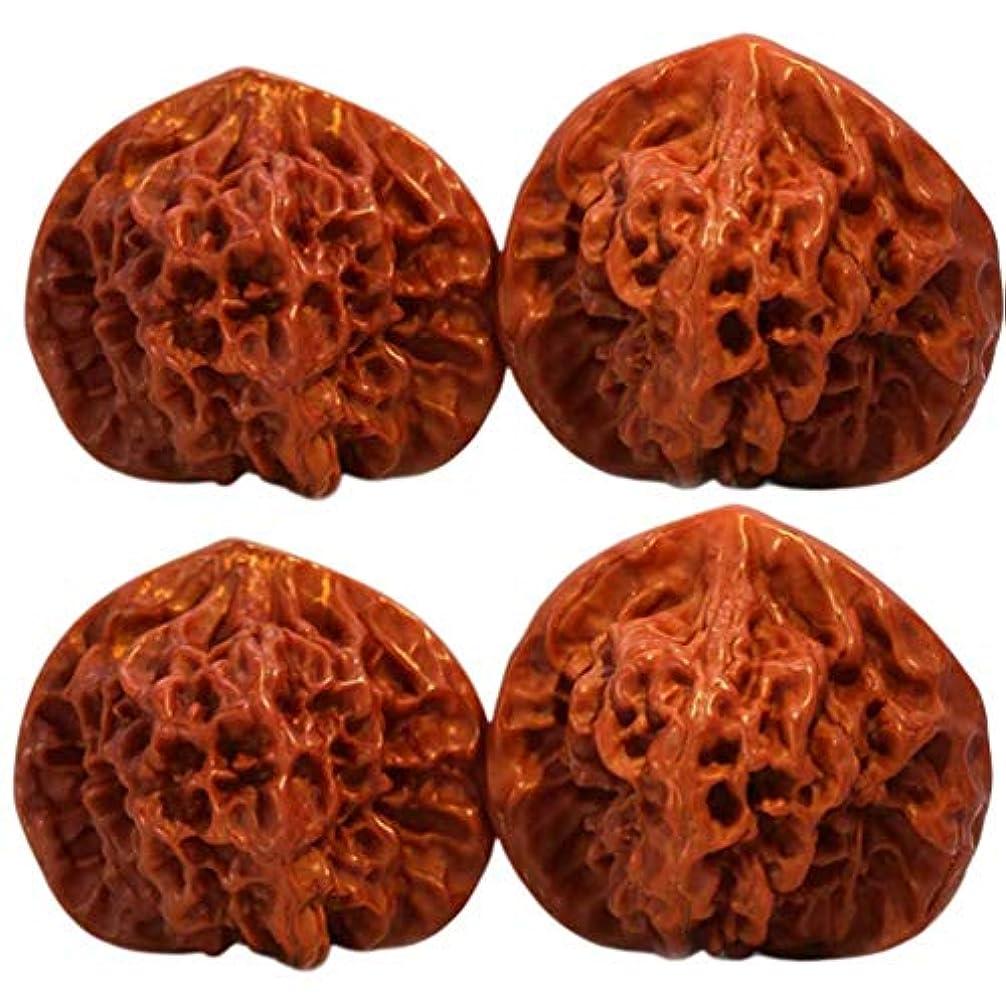 移植汚い可動式Healifty ハンド マッサージ ボール クルミ ハンド ボール エクササイ ズボール 4ピース