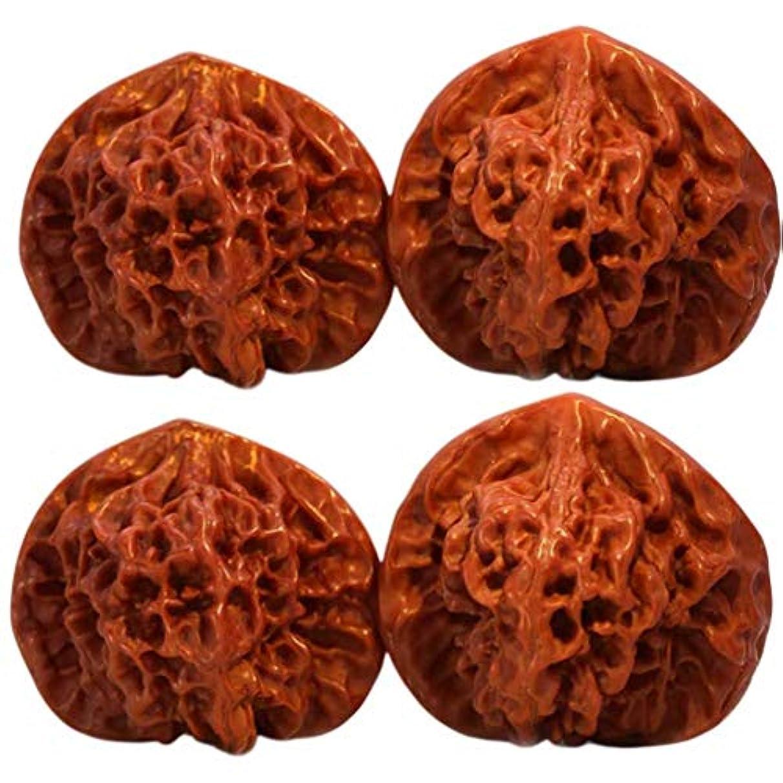 隙間柔らかい発掘するHealifty 4ピースマッサージボール深部組織ボールクルミ形状手掌鍼ボール血液循環筋肉crossfitモビリティ