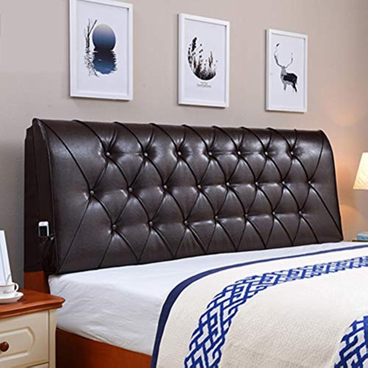 なめらかな並外れて覚えているクッション、ソフトヘッドボードクッション背もたれポジショニングサポート読書枕ソファベッドの枕充填枕字型マットレス,185*60cm