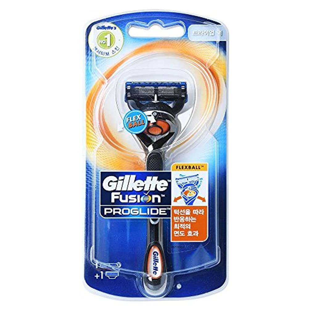 加入暗殺する飛行場Gillette Fusion Proglide Flexball Men's 1本のカミソリ1本でカミソリ1本 Trial pack [並行輸入品]