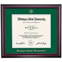 Michigan State Spartans卒業証書フレームfor Medicalグリーングレーエンボスマットシール