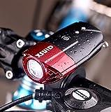 ライト自転車 ヘッドライト XSUID 自転車ライト USB充電式ヘッドライト1200mAh(R3)500ルーメン 防水 強/ 弱/ フラッシュモード 高輝度 LEDライト(日本語の説明書を付随する)【一年間安心保証】…