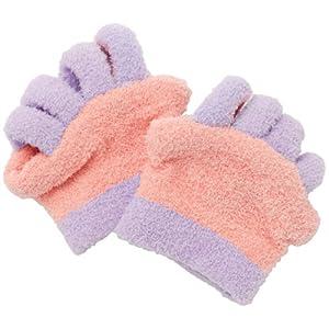 眠れる森の5本指ふわもこソックス 足指タイプ ピンク 0