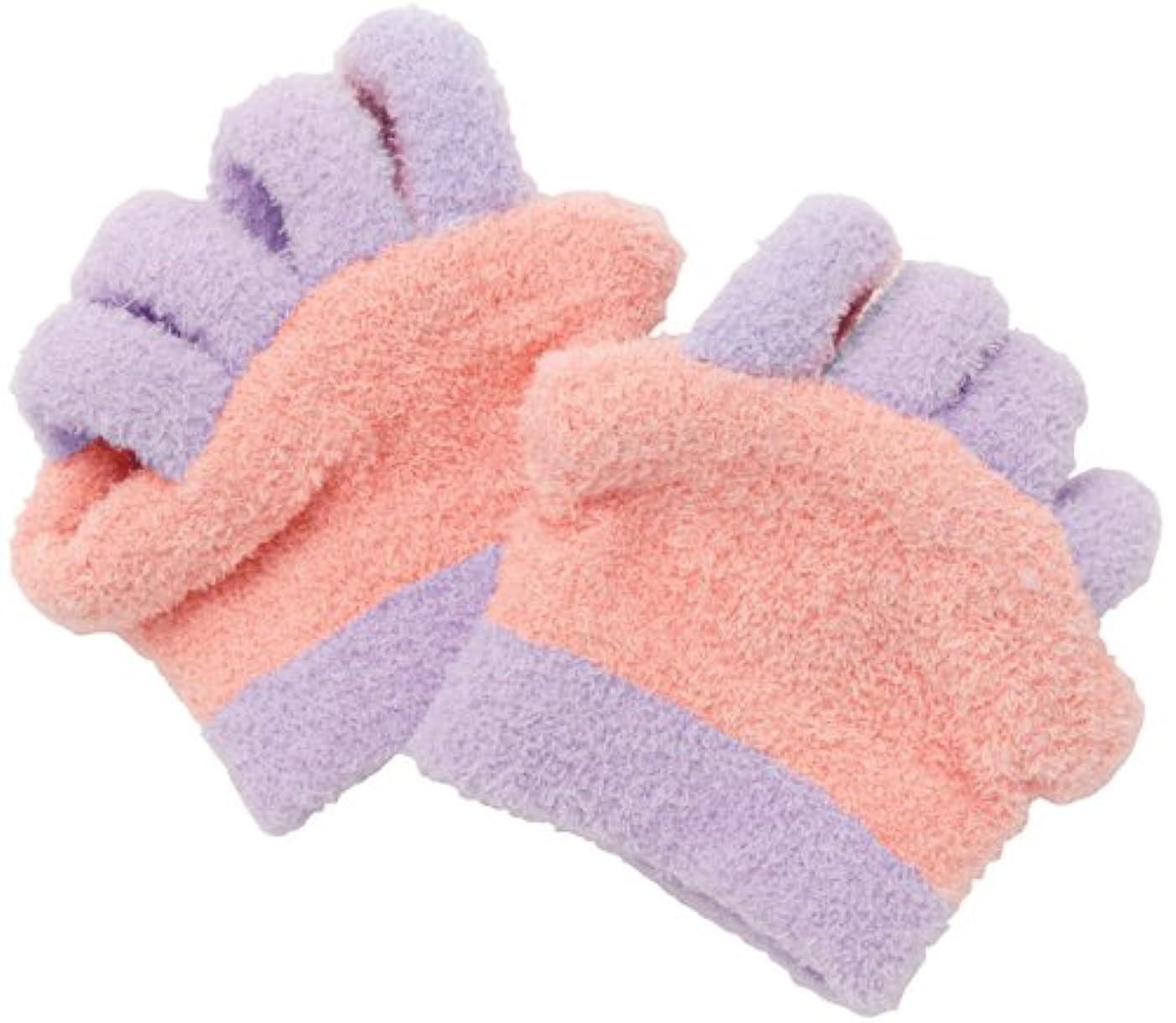 つかまえるグリップナンセンス眠れる森の5本指ふわもこソックス 足指タイプ ピンク 0